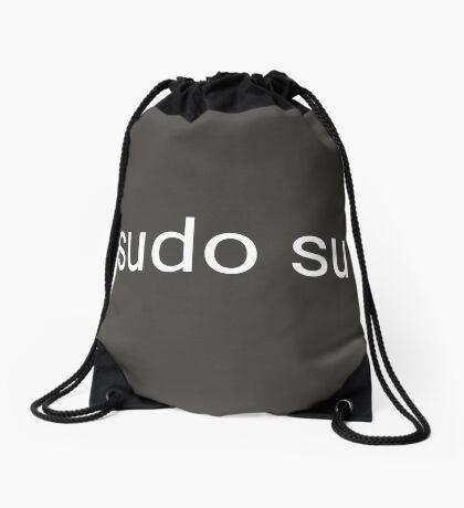 sudo su command Drawstring Bag