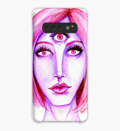 Pink Hair, Purple Skin Case/Skin for Samsung Galaxy