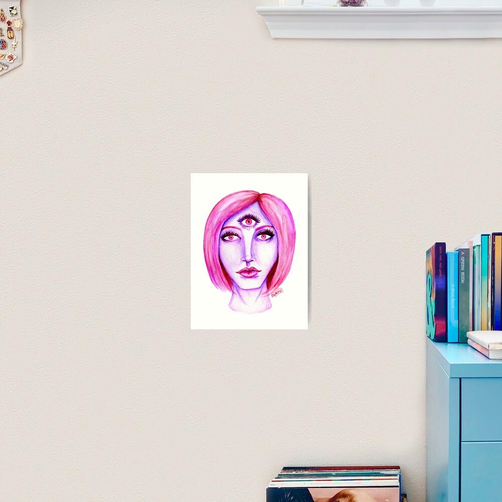 Pink Hair, Purple Skin Art Print