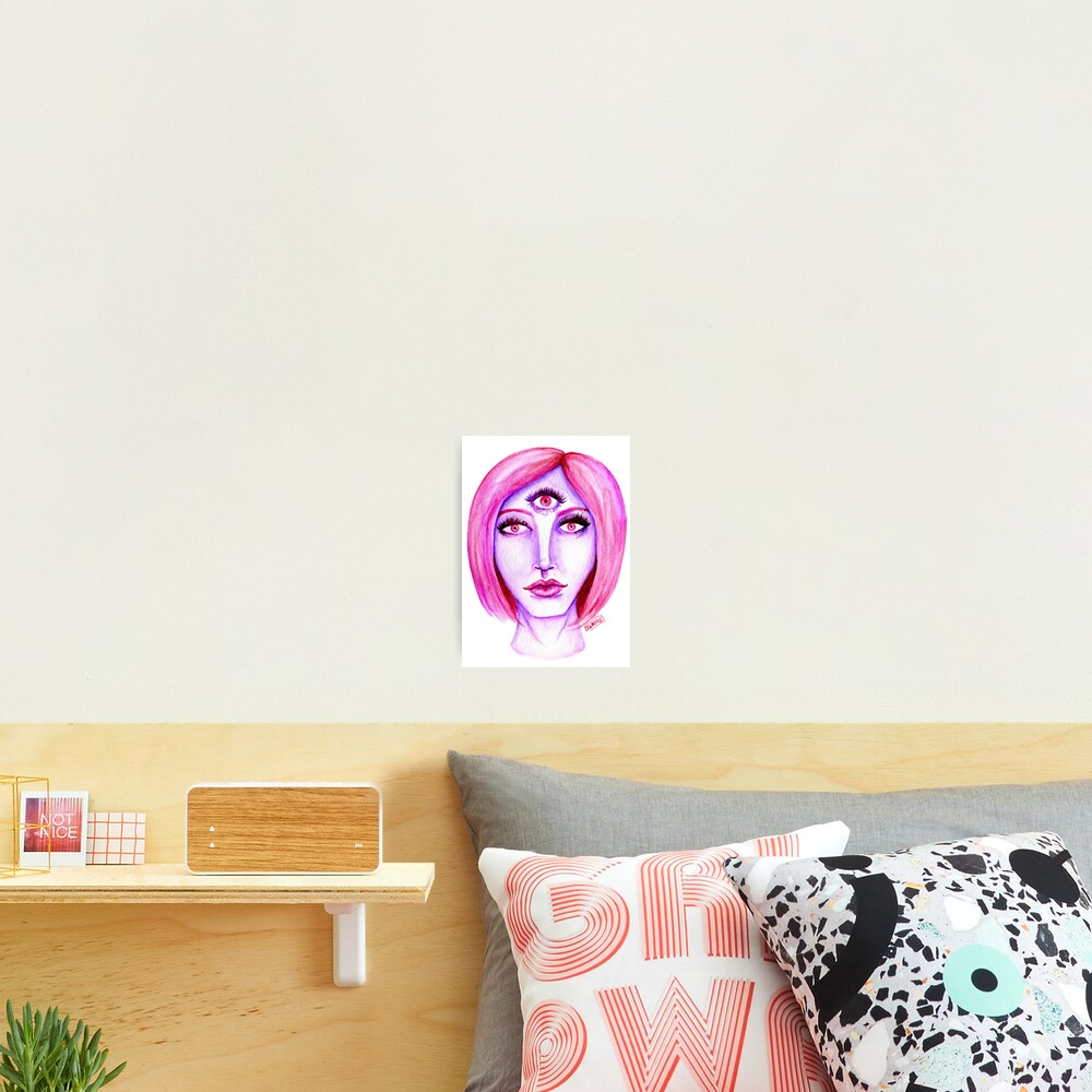 Pink Hair, Purple Skin Photographic Print