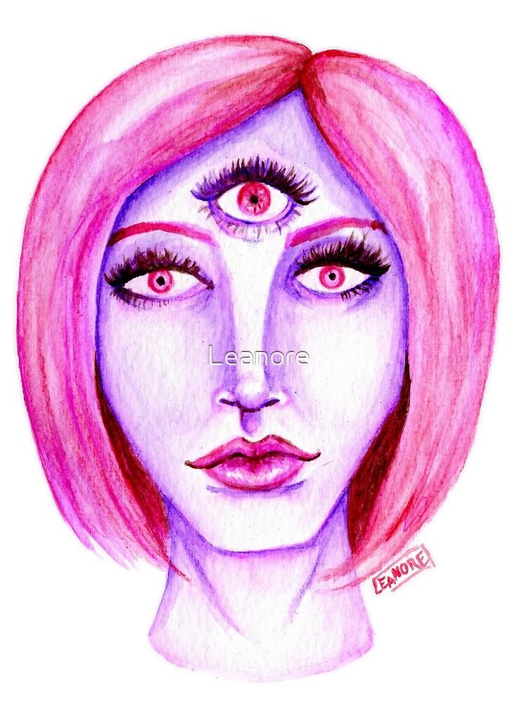 Pink Hair, Purple Skin by Leanore