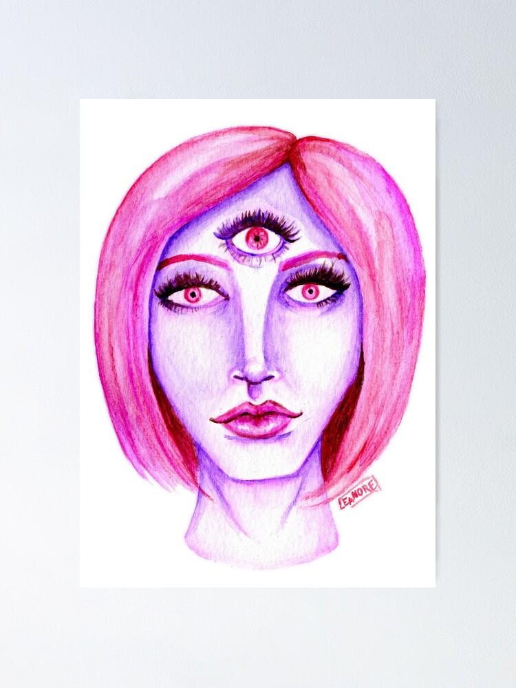 Alternate view of Pink Hair, Purple Skin Poster