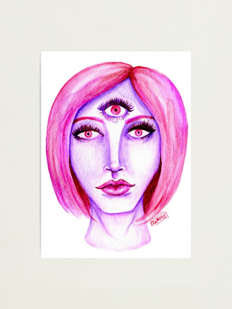 Alternate view of Pink Hair, Purple Skin Photographic Print