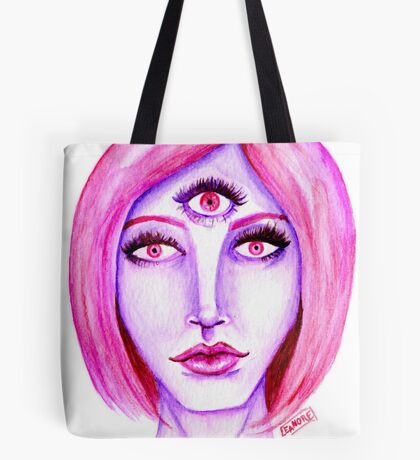 Pink Hair, Purple Skin Tote Bag