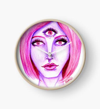 Pink Hair, Purple Skin Clock