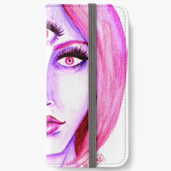 Pink Hair, Purple Skin iPhone Wallet