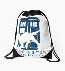 The raptors have the phone box 2 Drawstring Bag