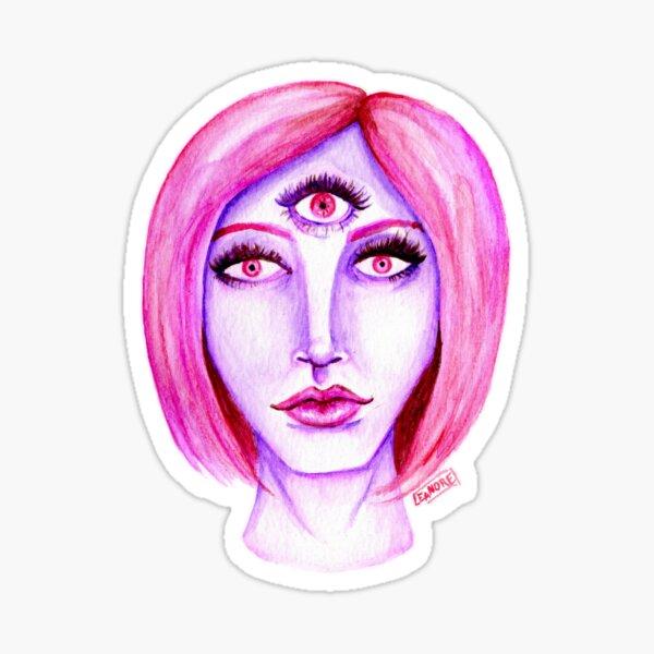 Pink Hair, Purple Skin Sticker