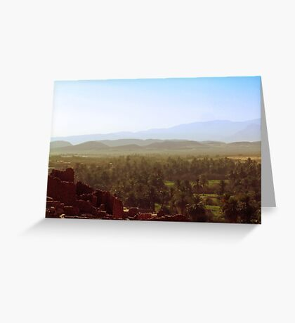 Beautiful Algeria - Warmth Radiated Across the Oasis Greeting Card