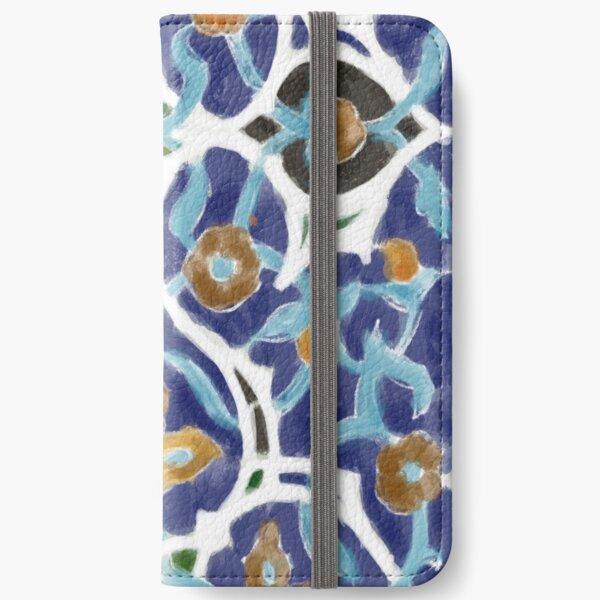 A Blue Persian Mosaic Tile  iPhone Wallet