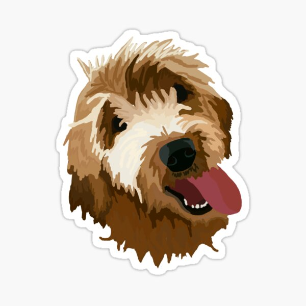 Goldendoodle Glossy Sticker