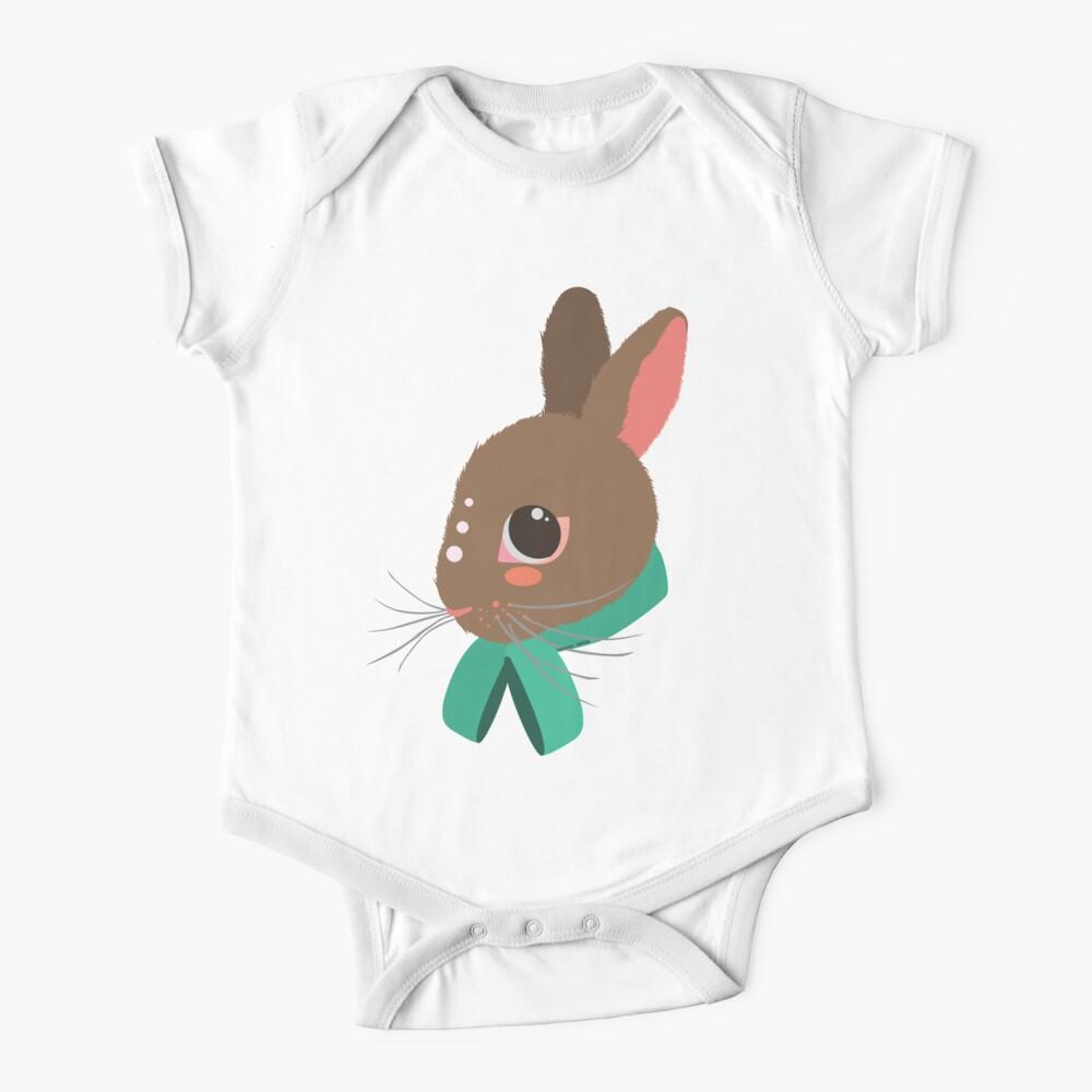 Peachy Bunny Baby One-Piece