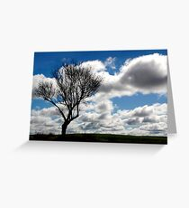 Silhouette Landscape Greeting Card