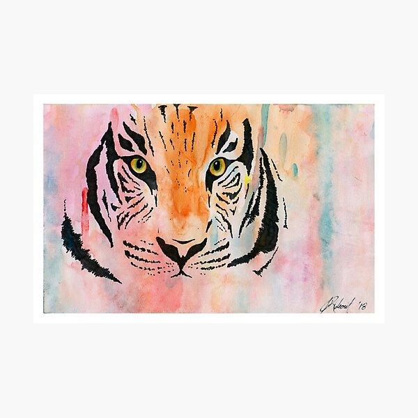 Watercolour Tiger (2018) Photographic Print