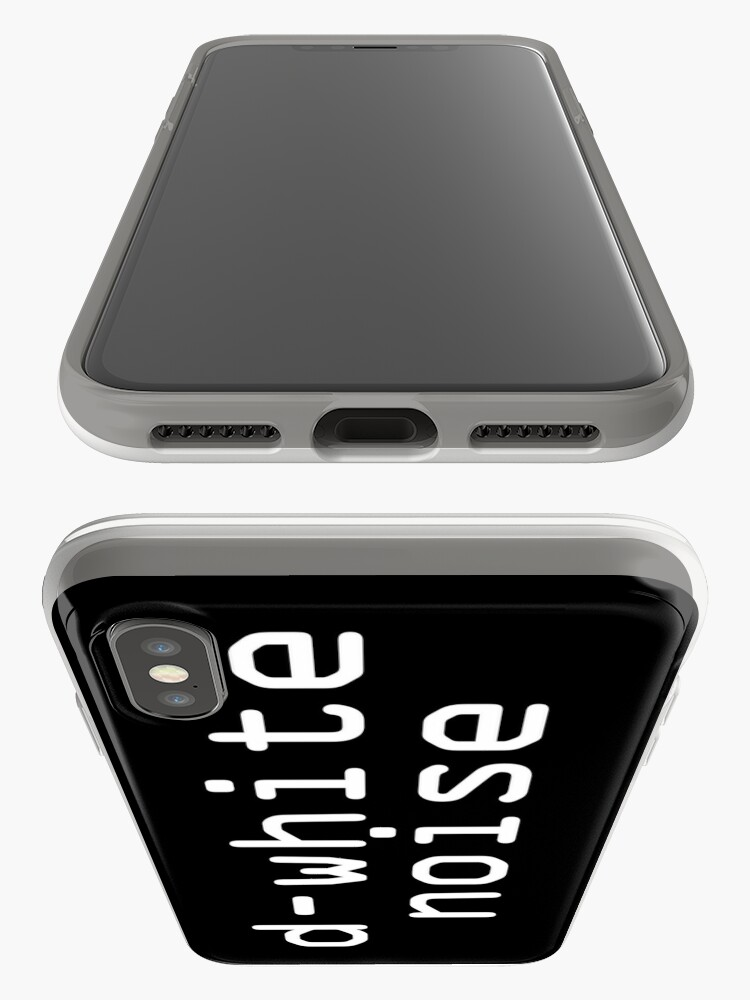 Alternate view of D-White Noise - plain white iPhone Cases & Covers