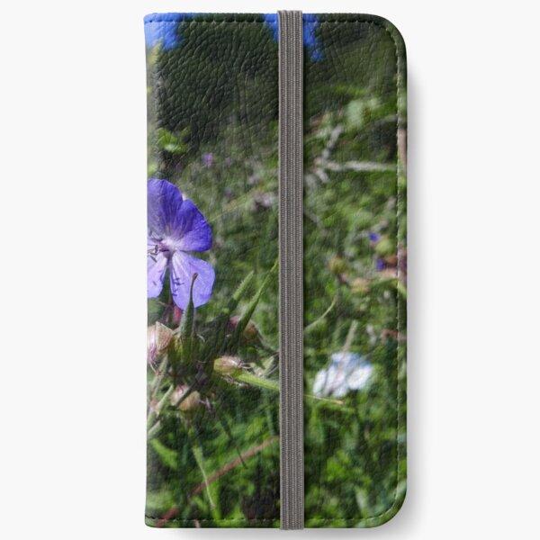 Meadow Cranesbill (Geranium pratense) iPhone Wallet