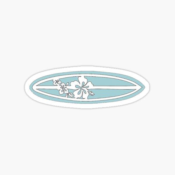 blue surfboard Sticker
