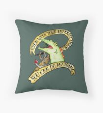 Courage The Cowardly Dog Inspirational Bathrub Fish Traditional Tattoo Watercolor Floor Pillow