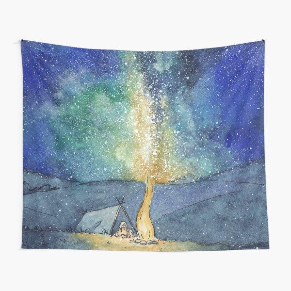 Watercolor Night Sky Tapestry