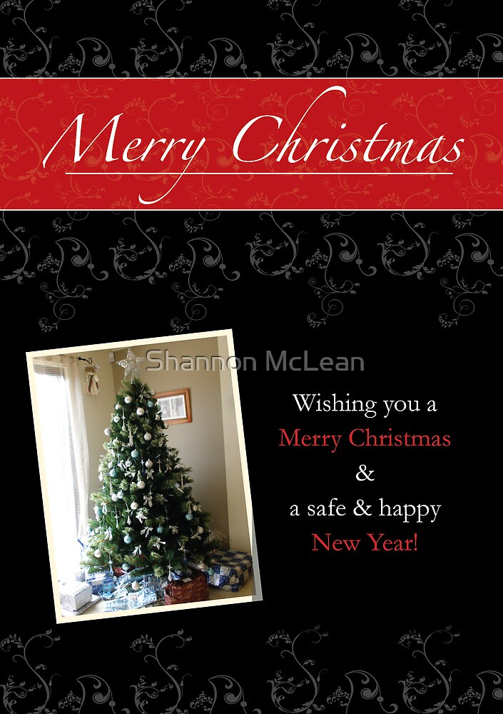 Black Lace Christmas Card by shanmclean