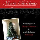 Black Lace Christmas Card by Shannon Kennedy