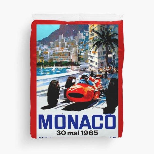 """MONACO GRAND PRIX"" Vintage Auto Racing Print Duvet Cover"