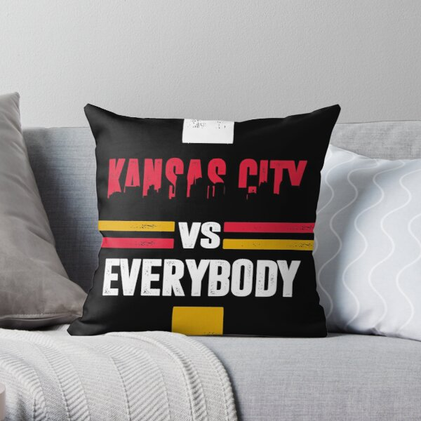 Kansas City sports fans american football Throw Pillow