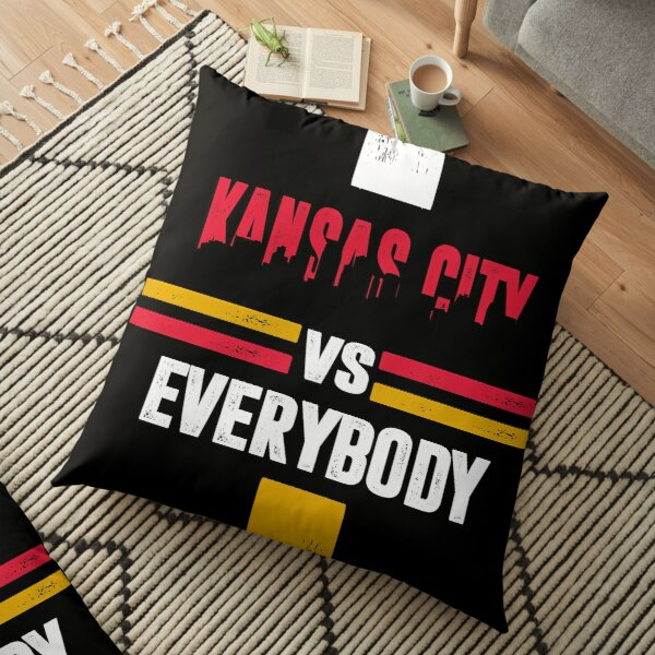 Kansas City sports fans american football Floor Pillow