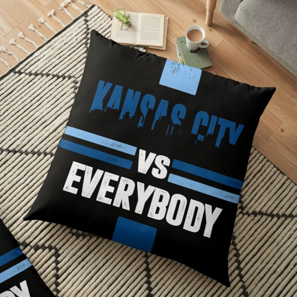 Kansas City sports fans soccer football Floor Pillow