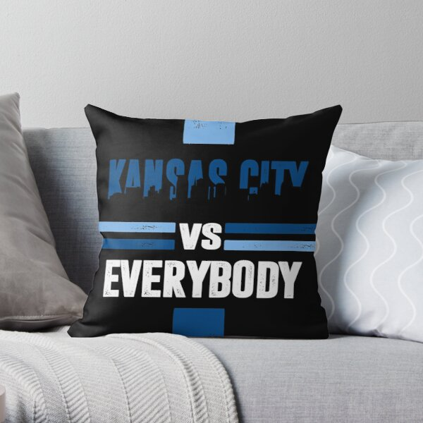 Kansas City sports fans soccer football Throw Pillow