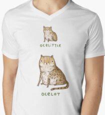 Ocelittle Ocelot Mens V-Neck T-Shirt