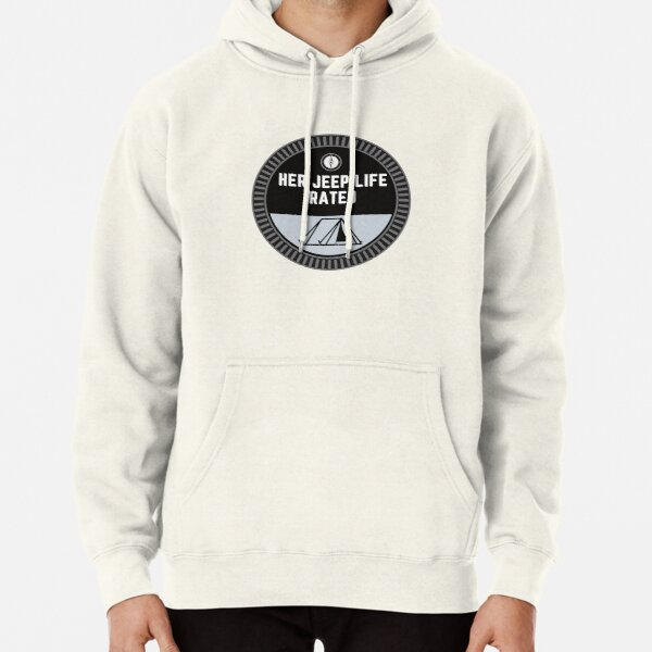 Her Jeep Life Trail Rated Hobby Badge - Camping Pullover Hoodie