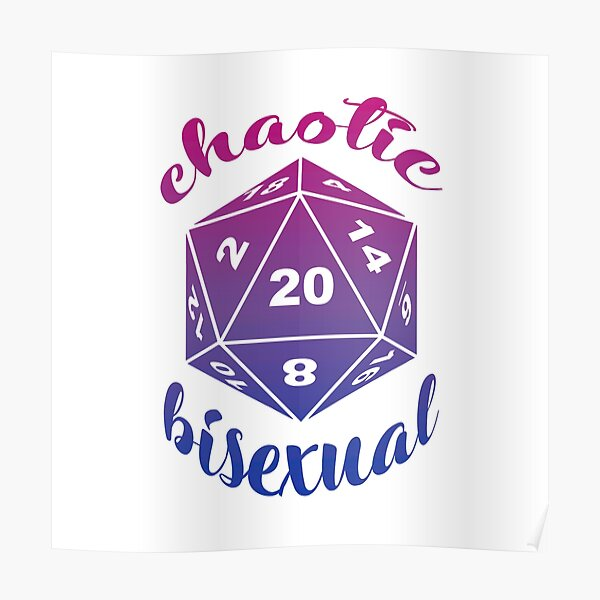 Chaotic Bisexual Dungeons and Dragons Alignment Poster