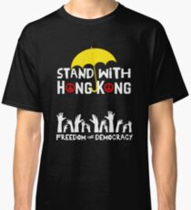 Hong Kong Yellow Umbrella Movement Freedom Democracy Protest Classic T-Shirt