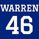Warren #46 (for darker color shirts) by TVsauce
