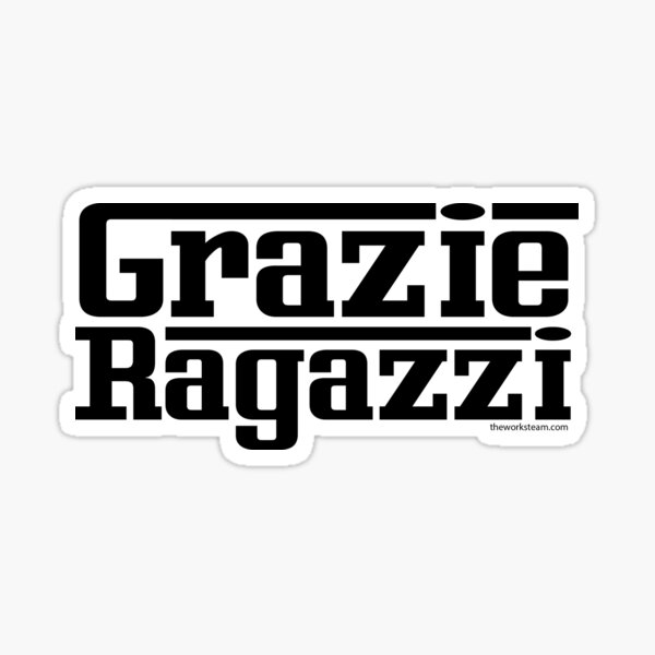 Grazie Black Sticker