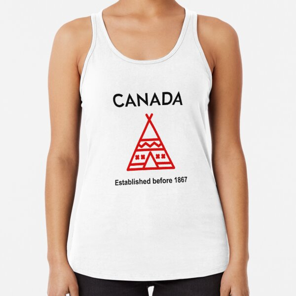 Canada Established Before 1867 Silhouette Light-Color Racerback Tank Top
