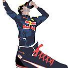 Daniel Ricciardo - Shoey In a Shoe Sticker by TheWorksTeam