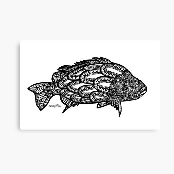 #489 - Black Bass Challenge - Artist Nathalie Le Riche Canvas Print