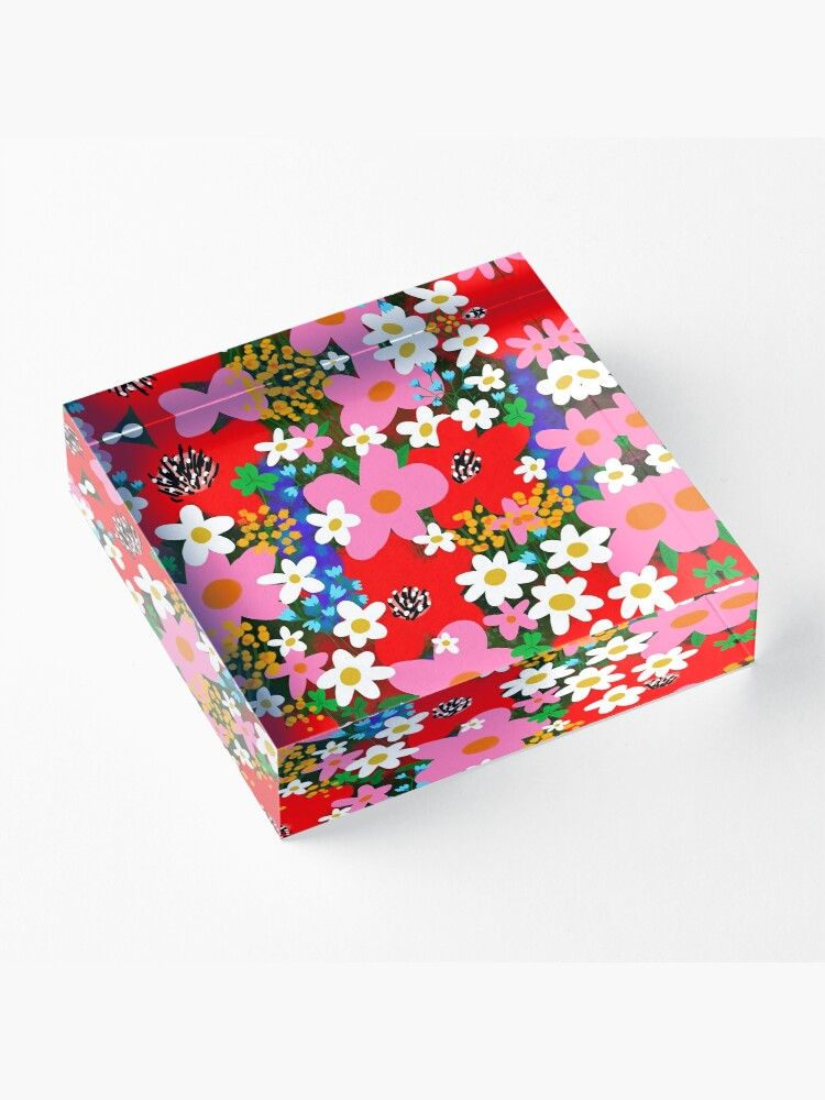 Alternate view of Flower Power! Acrylic Block