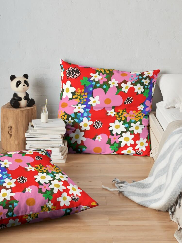 Alternate view of Flower Power! Floor Pillow