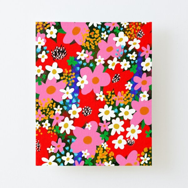 Flower Power! Canvas Mounted Print