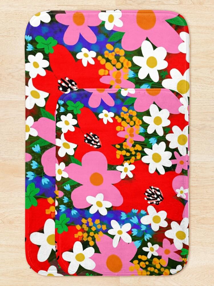 Alternate view of Flower Power! Bath Mat