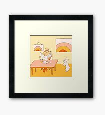 Apricot Breakfast - from my original series, Apricot World Framed Print