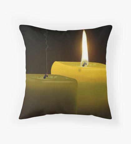 hope rekindled Throw Pillow