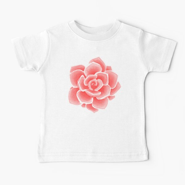 Succulent Flower (Red Edit) Baby T-Shirt