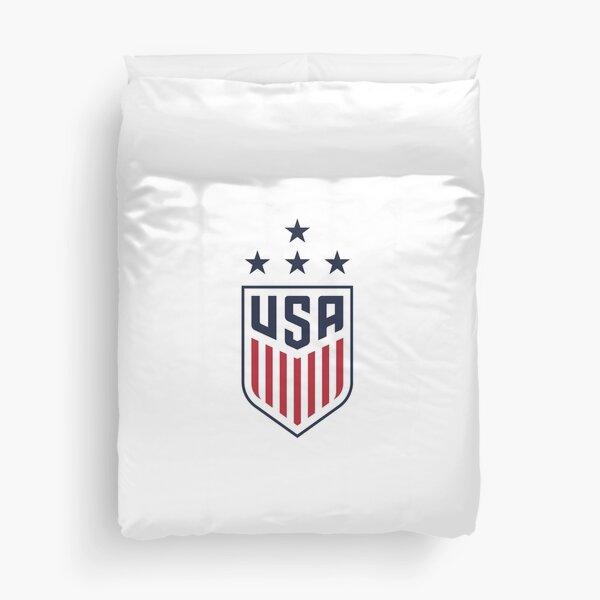 USA Women's Soccer Logo w/Navy Star Duvet Cover