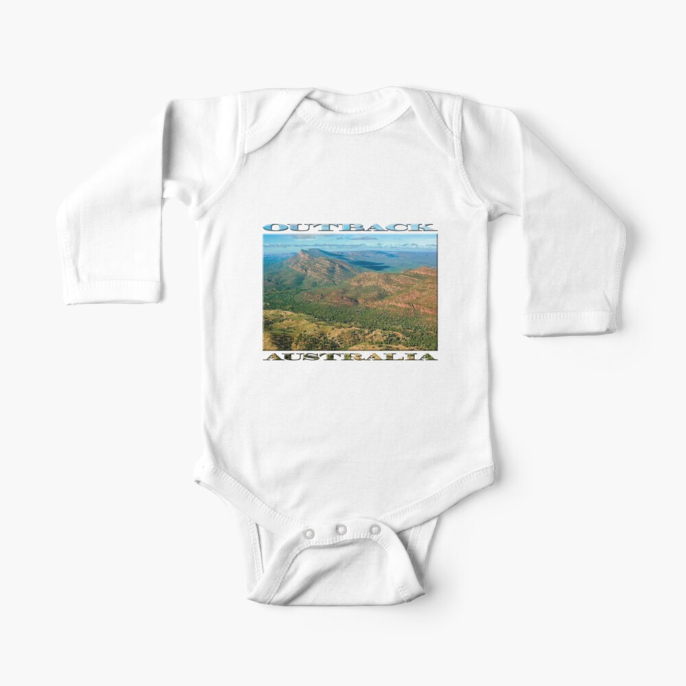 Rawnsley Bluff III (poster on black) Baby One-Piece