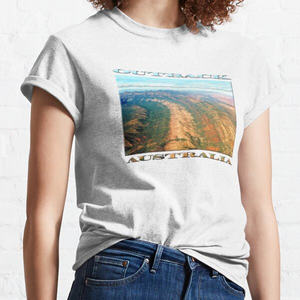 Outback Mountains (poster on white) Classic T-Shirt