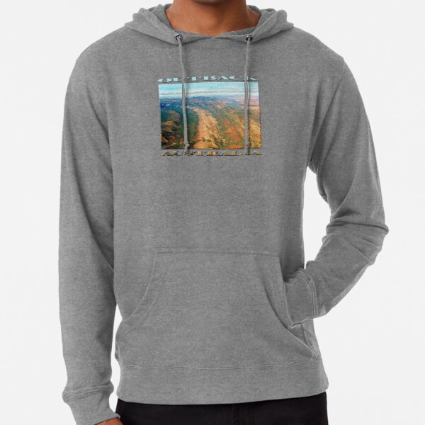 Outback Mountains (poster on white) Lightweight Hoodie